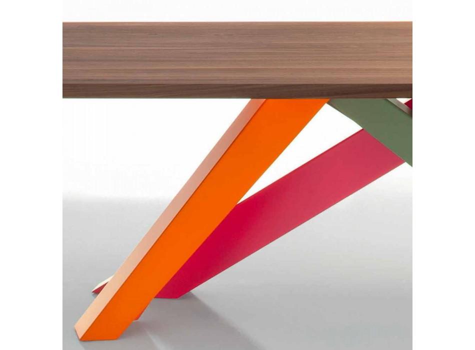 Bonaldo Big Table tavolo in legno massello noce americano made Italy