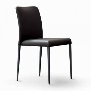 Bonaldo Deli sedia di design con seduta imbottita pelle made in Italy