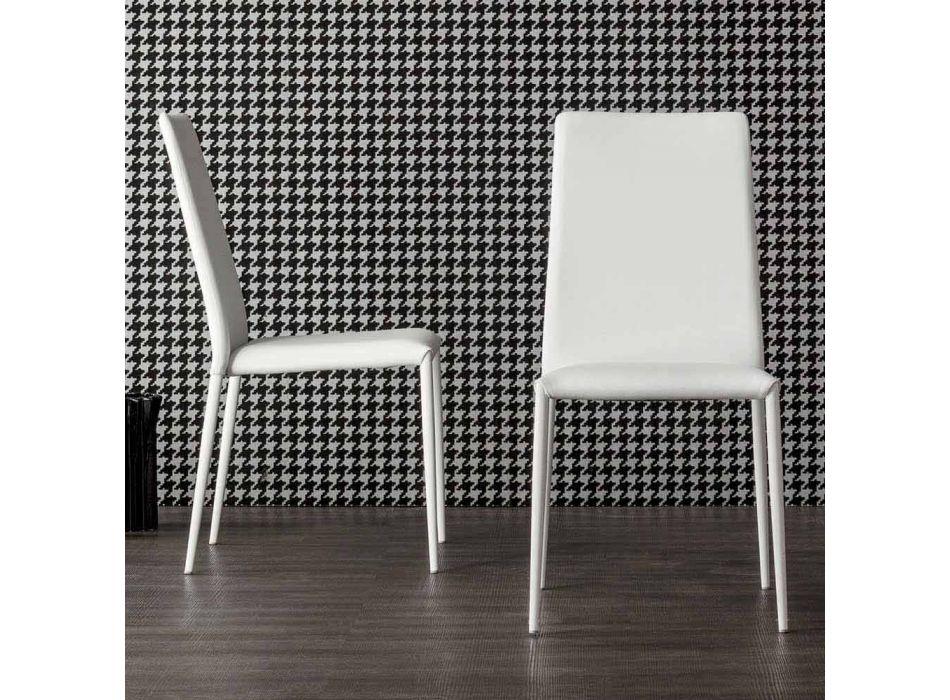 Bonaldo Eral sedia di design moderno imbottita in pelle made in Italy