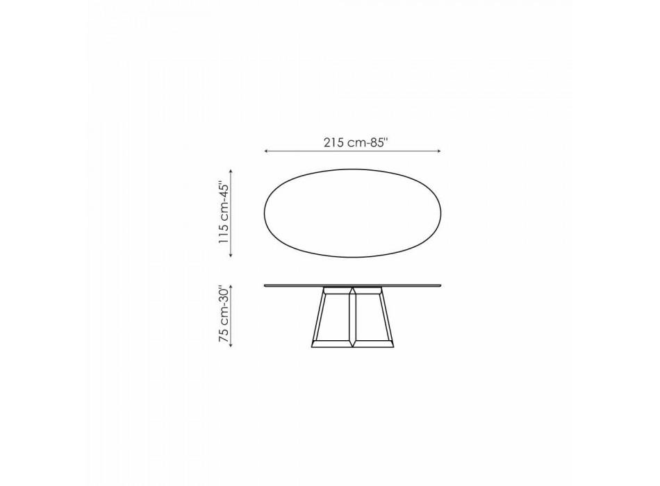 Bonaldo Greeny tavolo ovale di design cristallo e legno made in Italy