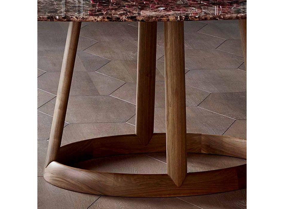 Bonaldo Greeny tavolo tondo design piano marmo Emperador made Italy
