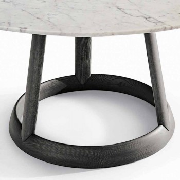 Bonaldo Greeny tavolo tondo di design piano marmo Carrara made Italy