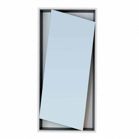 Bonaldo Hang specchio parete di design legno laccato H185cm made Italy