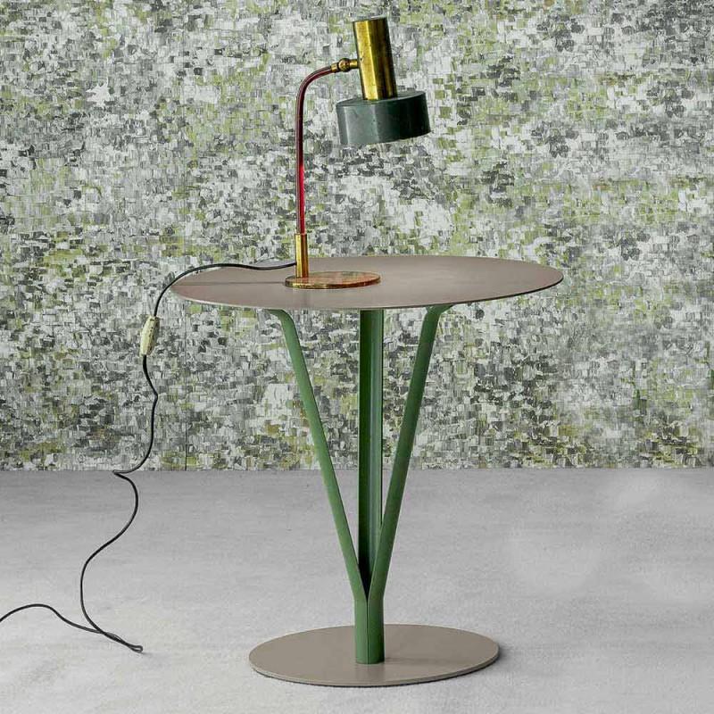 Bonaldo Kadou tavolino di design acciaio verniciato D50cm made Italy