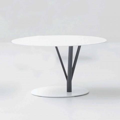 Bonaldo Kadou tavolino di design acciaio verniciato D70cm made Italy