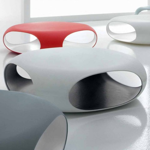 Bonaldo Pebble tavolino design interno/esterno polietilene made Italy
