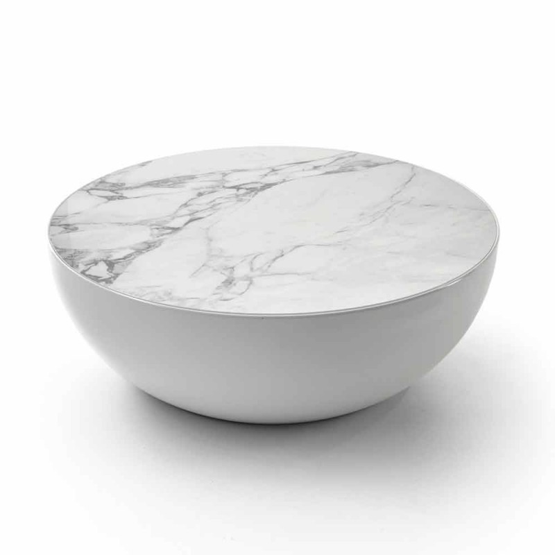 Bonaldo Planet tavolino di design in ceramica Calacatta made in Italy