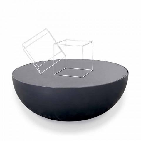 Bonaldo Planet tavolino di design in cristallo acidato made in Italy