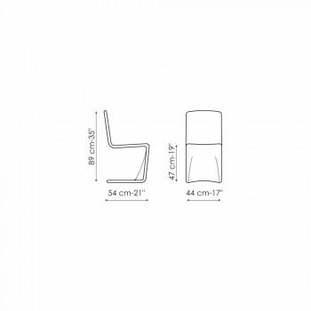 Bonaldo Venere sedia di design moderno imbottita pelle made in Italy