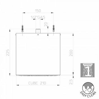 Bossini Cube soffione rivestito in Inox moderno a un getto