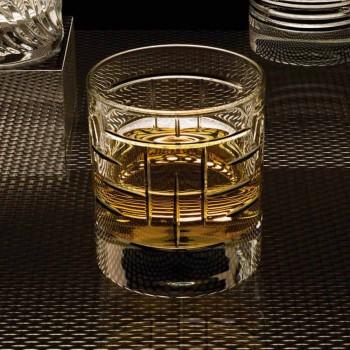 Bottiglia e Bicchieri per Whisky Lusso in Cristallo Ecologico 6 Pezzi - Aritmia