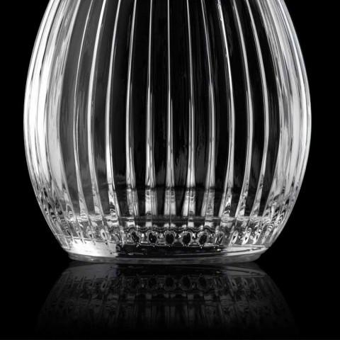 Bottiglie da Vino Design Rotondo con Tappo in Cristallo 4 Pezzi - Senzatempo