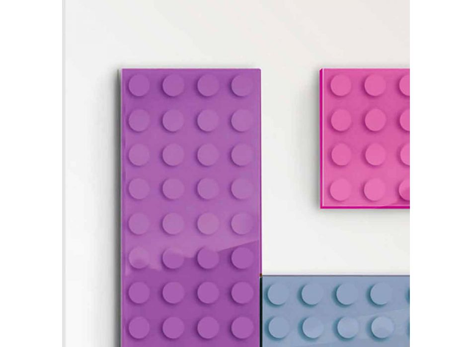 Brick radiatore lego elettrico di design made in Italy by Scirocco H
