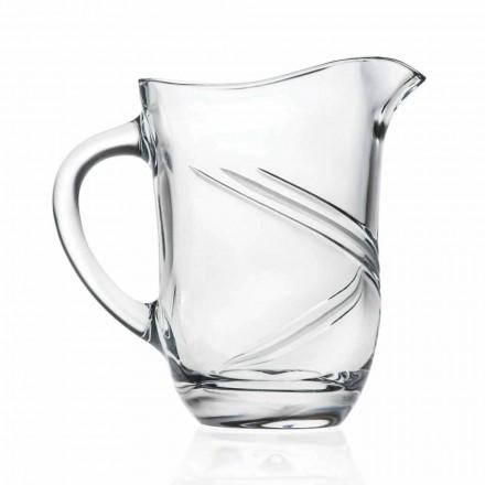 Brocca Caraffa da Acqua di Cristallo Decorato a Mano, 2 Pz Linea Lusso - Ciclone