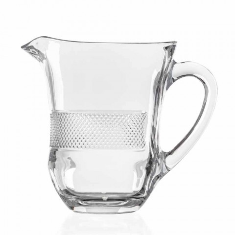 Brocca per Acqua Bevande in Cristallo Ecologico Decorato Lusso 2 Pezzi - Milito