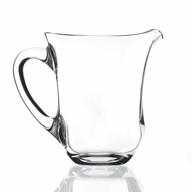 Brocca per Acqua in Cristallo Ecologico Italiano Design 2 Pezzi - Lisciato