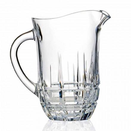 Brocche Acqua in Cristallo Eco Decorato, Design 2 Pezzi Linea Lusso - Fiucco