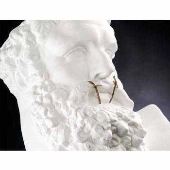 Busto scultura di design in ceramica fatto a mano Ercole non Parlo