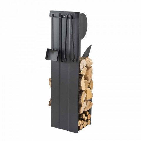 Caf Design PLVF portalegna in acciaio, design moderno