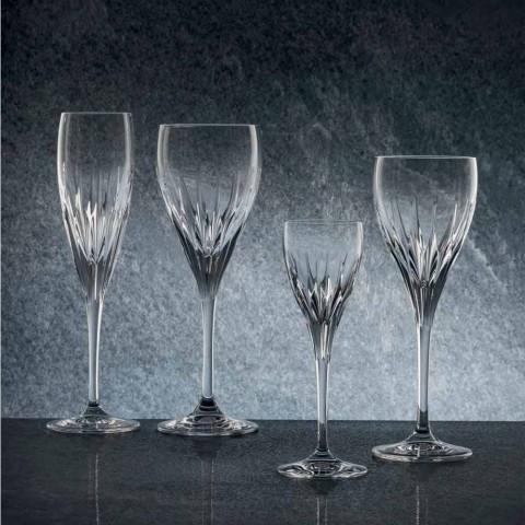 Calice da Vino Rosso Design di Lusso Italiano in Cristallo Eco 12 Pezzi - Voglia
