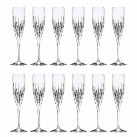Calice Flute da Vino Champagne in Cristallo Ecologico 12 Pezzi - Voglia