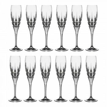 Calice Flute in Cristallo per Champagne in Cristallo Ecologico 12 Pezzi - Fiucco