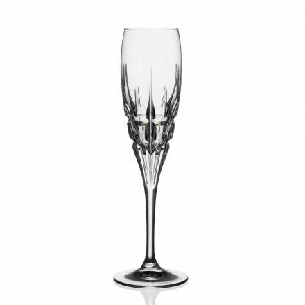 12 Calici Flute in Cristallo per Champagne in Cristallo, Linea Lusso - Fiucco