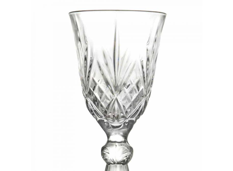 Calice per Liquore di Design Vintage in Cristallo Ecologico 12 Pezzi - Cantabile