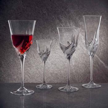 Calice per Vino Rosso in Cristallo di Qualità con Decori 12 Pezzi - Avvento