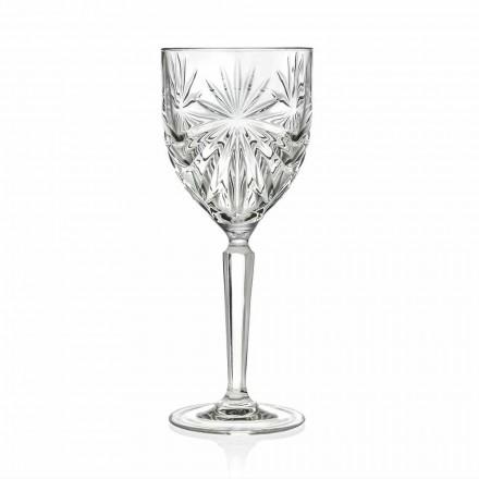 Calici da Vino o Acqua in Cristallo Ecologico di Design 12 Pezzi - Daniele