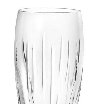 Calici Flute in Eco Cristallo con Segmenti, Linea Lusso 12 Pz - Monnalisa