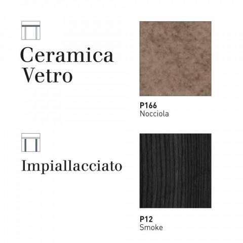 Calligaris Sigma tavolo moderno allungabile fino a 220 cm in ceramica