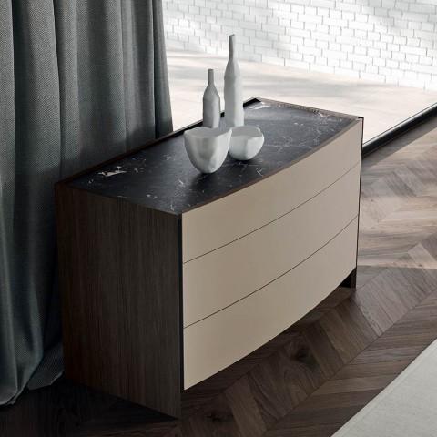 Camera da Letto a 4 Elementi Stile Moderno Realizzata in Italia - Calimero
