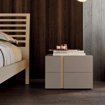 Camera da Letto a 5 Elementi Stile Moderno Made in Italy Alta Qualità - Preziosa