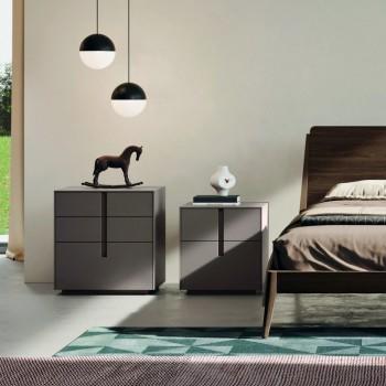 Camera da Letto Completa a 5 Elementi in Stile Moderno Made in Italy - Savanna
