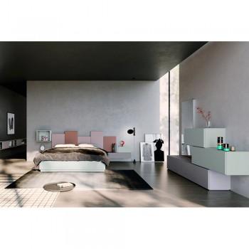 Camera da Letto Completa a 5 Elementi Made in Italy Alta Qualità - Quarzo