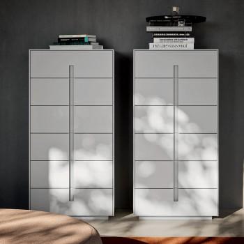 Camera da Letto Matrimoniale a 5 Elementi Stile Moderno Made in Italy - Octavia