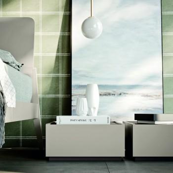 Camera da Letto Moderna a 5 Elementi in Stile Moderno Made in Italy - Melodia