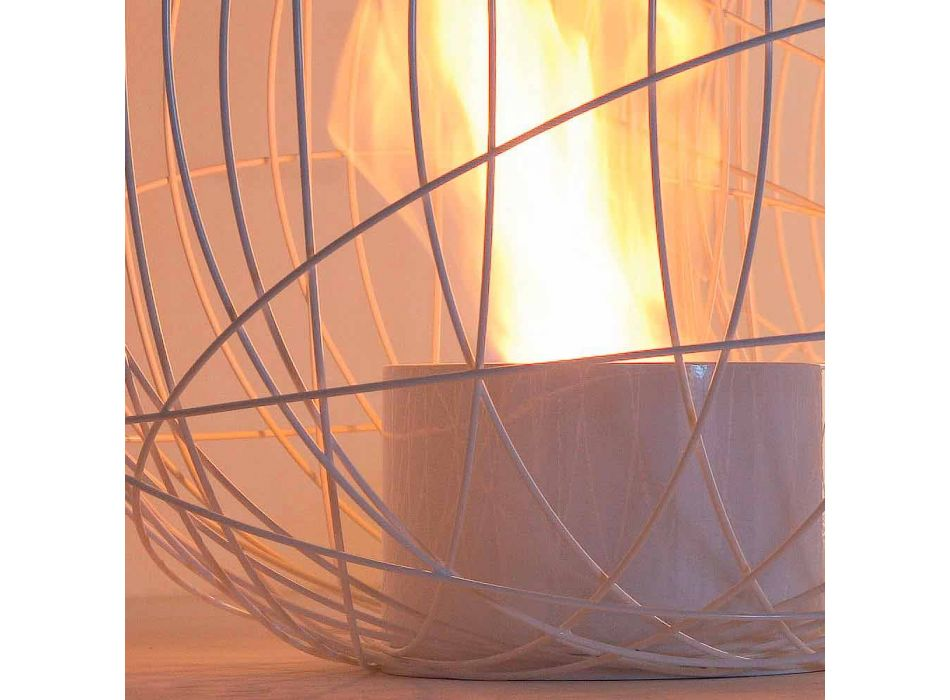 Camino a bioetanolo  da tavolo/terra in acciaio a forma di sfera Henry