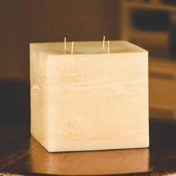 Candela Quadrata Artigianale di Cera Moderna Made in Italy - Mondeo
