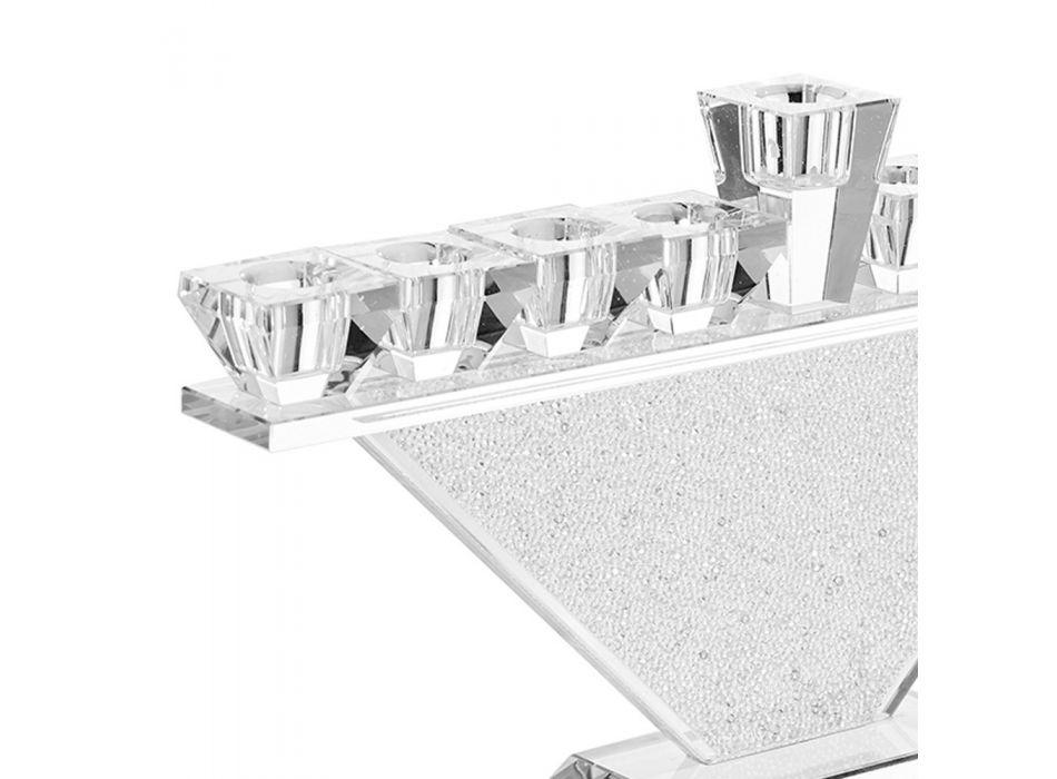 Candelabro in Cristallo Pregiato Design a 9 Fiamme di Lusso Italiano - Wanni
