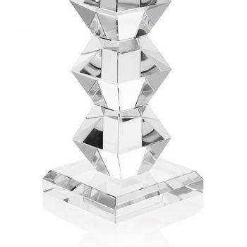 Candeliere di Cristallo di Lusso Italiano Design Geometrico 2 Altezze - Renzo
