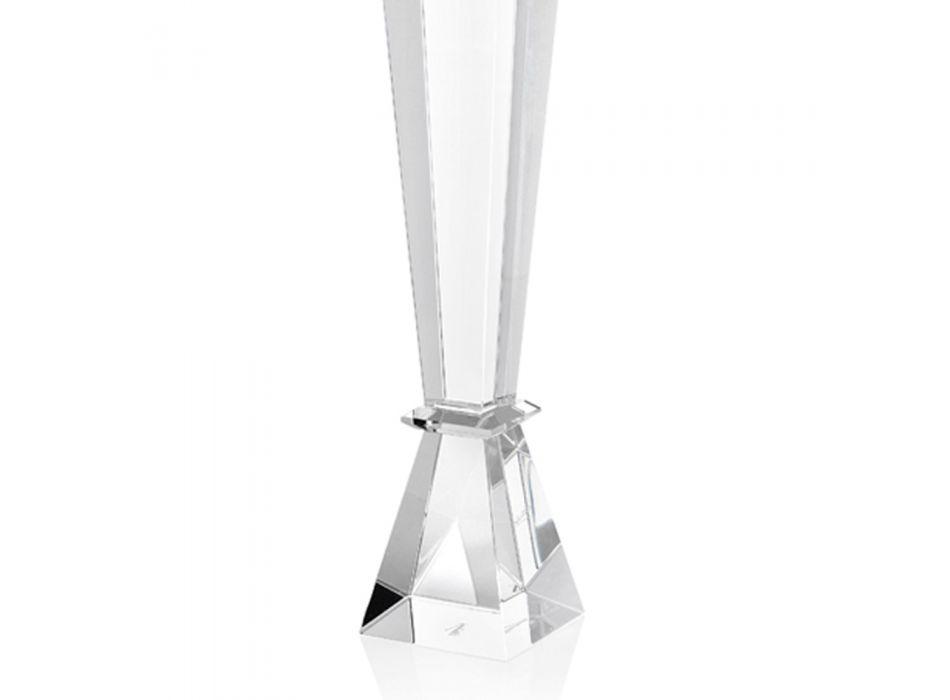 Candeliere in Cristallo Pregiato Design di Lusso Italiano 2 Altezze - Mercedes