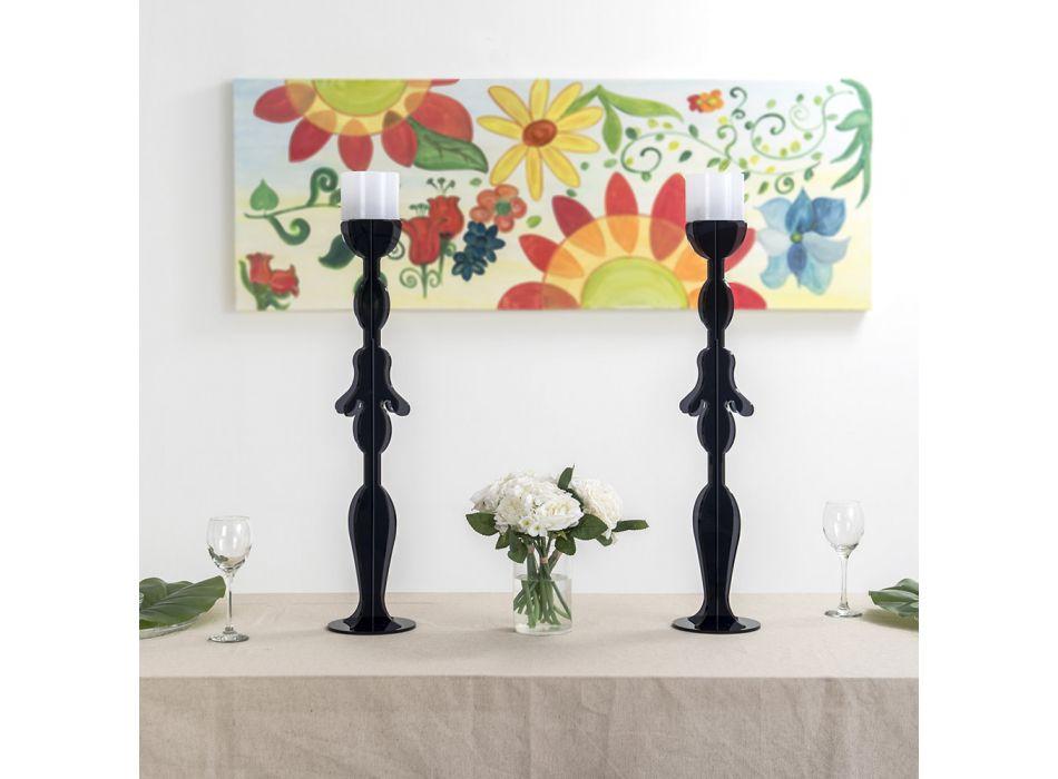 Candeliere in Plexiglass Colorato Riciclabile Sagomato a Laser - Adriana