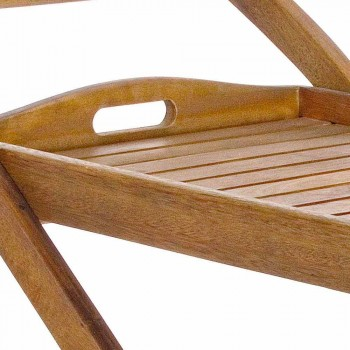 Carrello Portavivande da Giardino in Legno di Acacia Design Elegante - Roxen