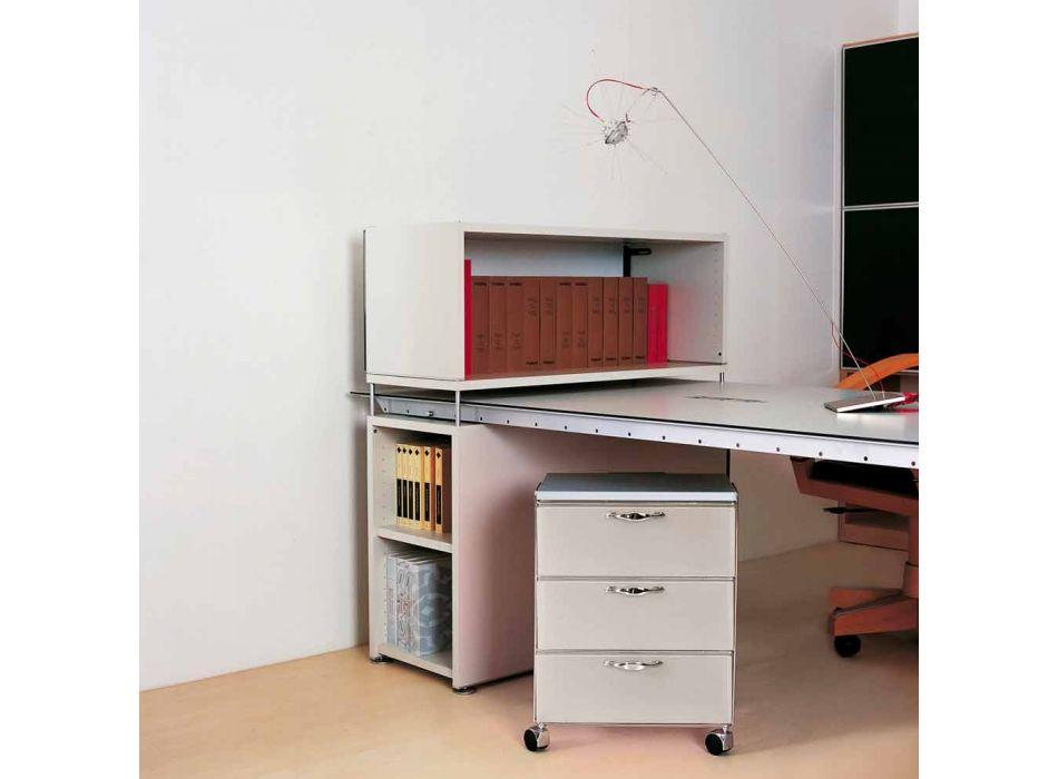 Cassettiera moderna 3 cassetti in polipropilene bianco o grigioAdam