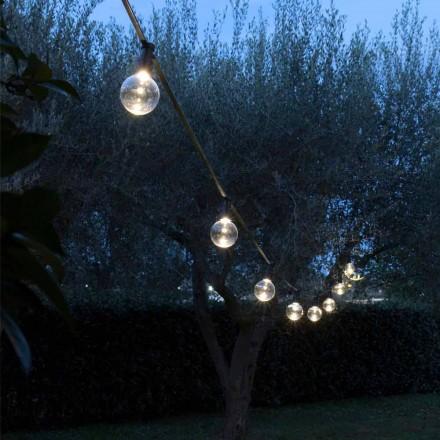 Cavo da Esterno in Neoprene con 8 Lampadine LED Incluse Made in Italy - Festa