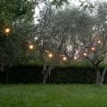 Cavo da Esterno in Neoprene con 8 Portalampadine e 2 Ganci Made in Italy - Festa