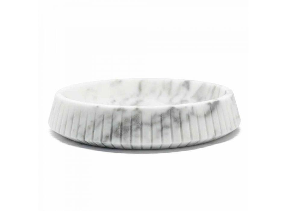 Centrotavola di Design in Marmo Bianco di Carrara Made in Italy - Bryan