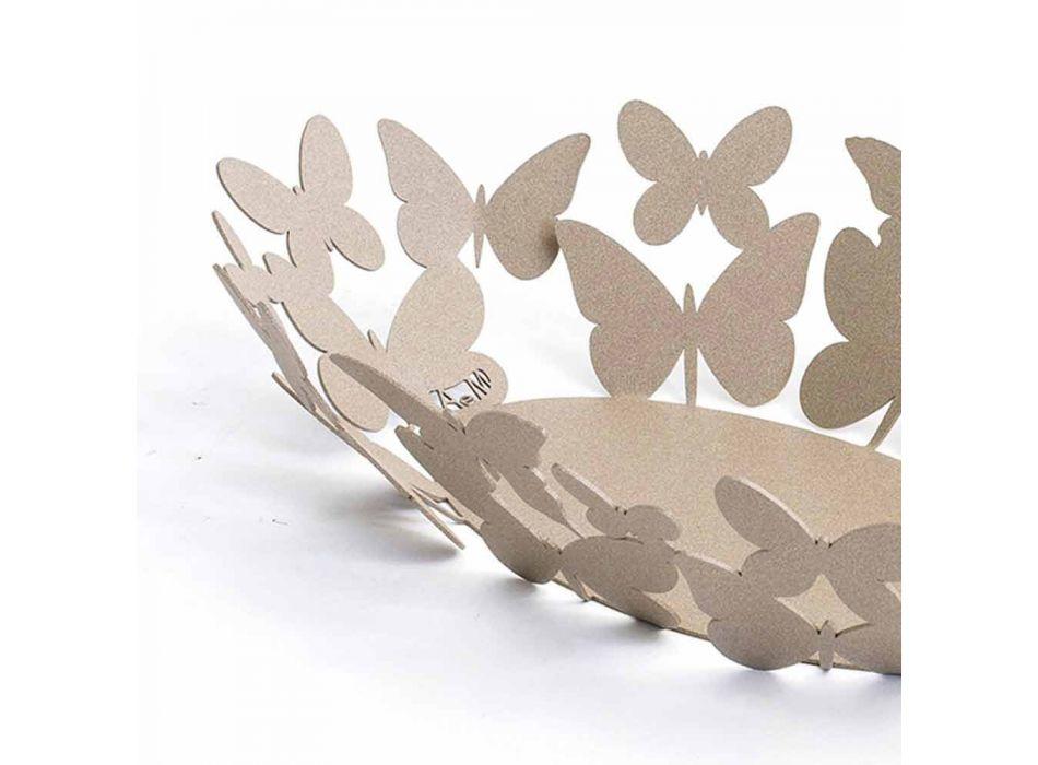 Centrotavola Ovale Moderno in Ferro Bianco o Beige Made in Italy – Leida